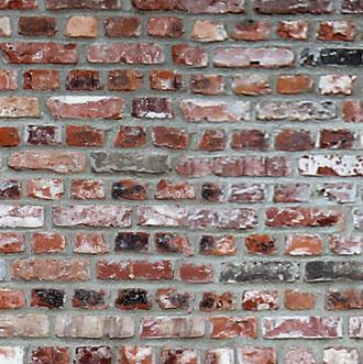 Gamle mursten brugt til byggeriet på Sandkejen